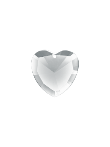 Elohim White crystal heart
