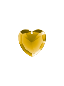 Elohim Gold crystal heart